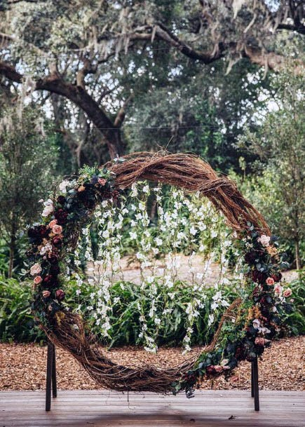 Round Art Rustic Wedding Flowers