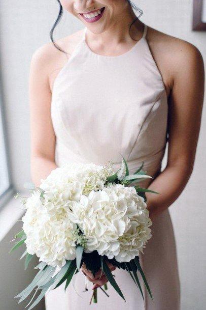 Round Globes Hydrangea Wedding Flowers