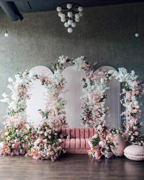 Royal Arch Blush Roses Wedding Flowers