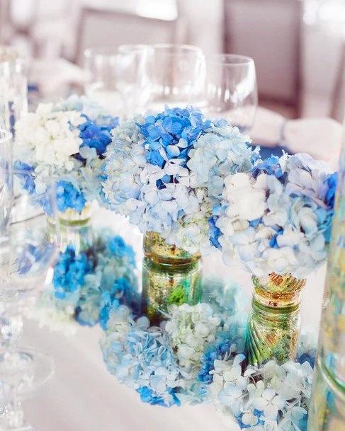 Royal Blue Hydrangea Wedding Flowers