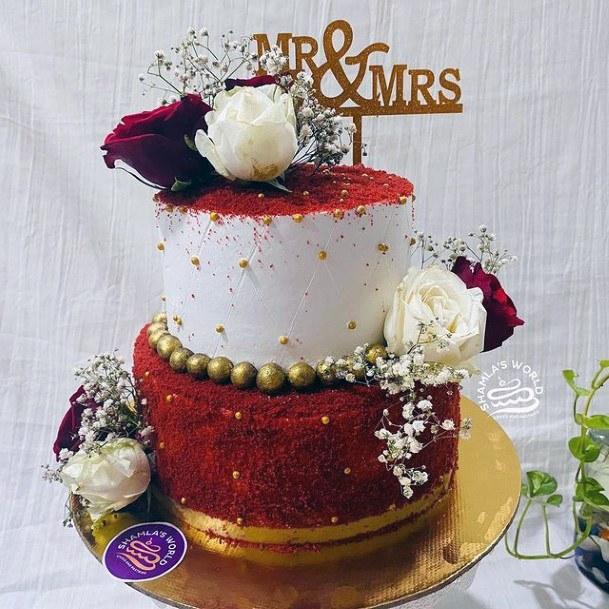 Royal Red Velvet Wedding Cake