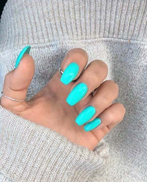 Royal Turquoise Bright Blue Nails For Women