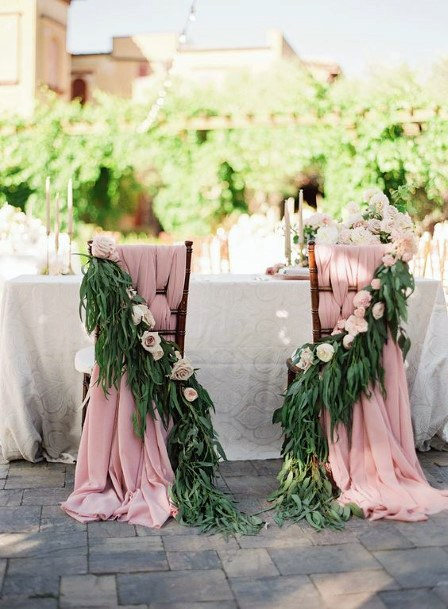 Royal Wedding Platform Blush Fabric And Flowers