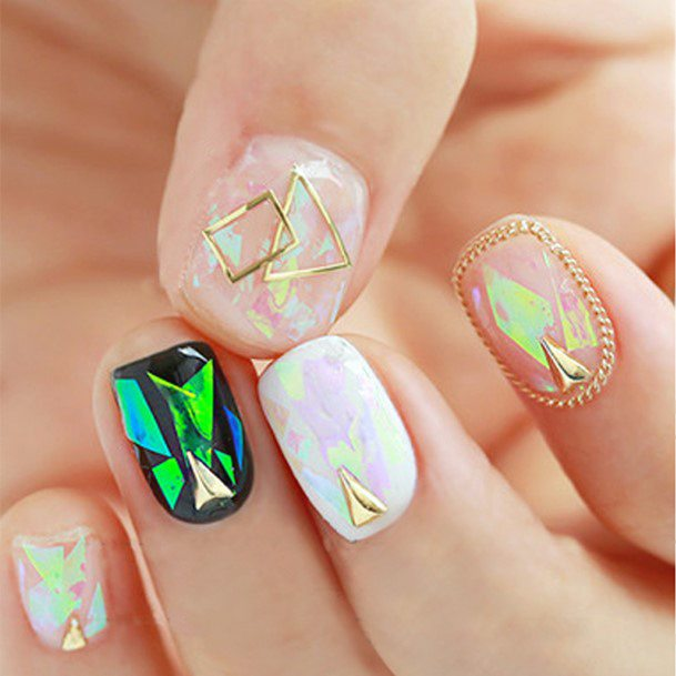 Royally Decorated Glass Nails For Women