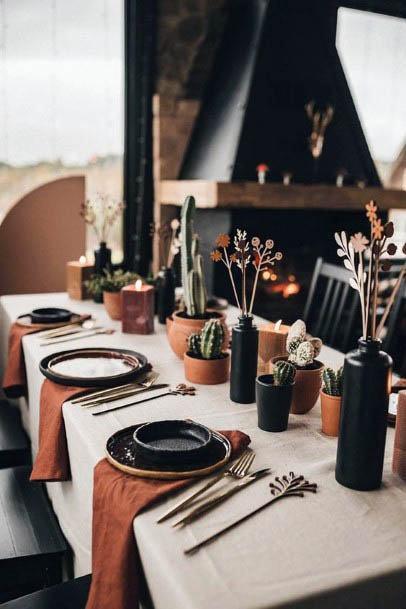 Rustic Dining Decor Flowers Wedding