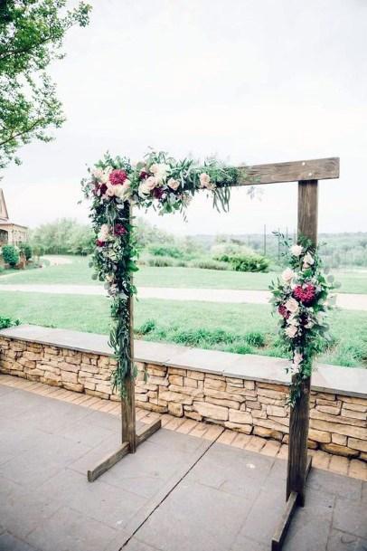 Rustic Homemade Arch Backyard Wedding Ideas