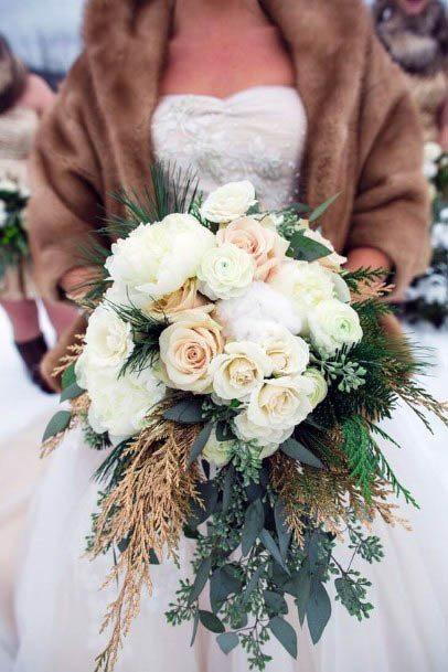Rustic Pearl White Flowers Wedding Art