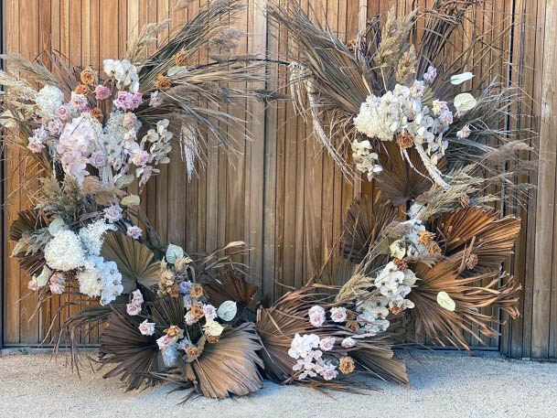 Rustic Wedding Flowers Circular Setup