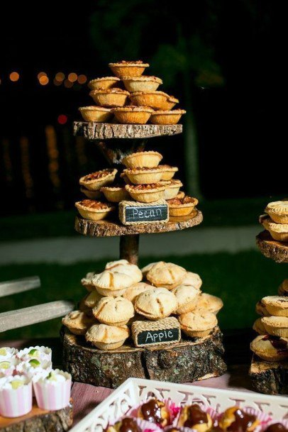Rustic Wedding Ideas Country Dessert Table With Pies