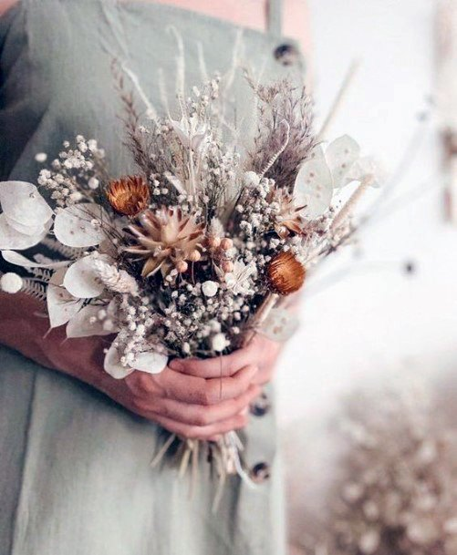 Rustic Wedding Ideas Dried Bouquet Inspiration
