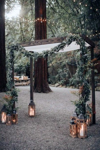 Rustic Wedding Ideas Fairy Tale Arch With Garland And Fairy Lights