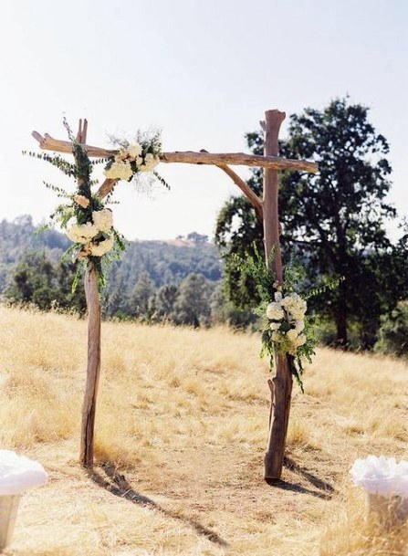 Rustic Wedding Ideas Hand Made Tree Branch Arch