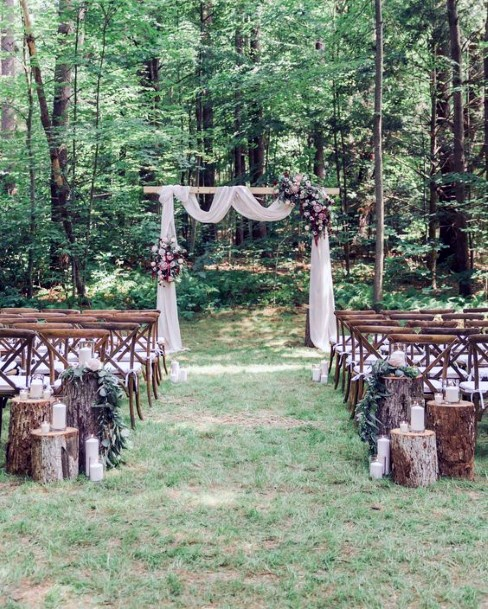 Rustic Wedding Ideas Lush Forrest Ceremony