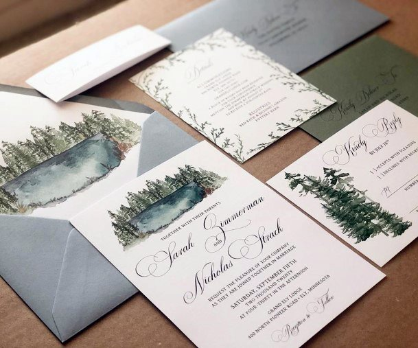 Rustic Wedding Ideas Mountain Themed Invitation Suite Inspiration