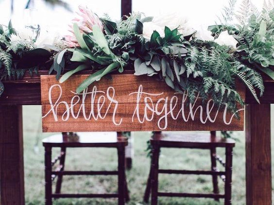 Rustic Wedding Ideas Sweetheart Table Sign Inspiration