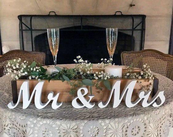 Rustic Wedding Ideas Wooden Box Flower Pot Inspiration Sweetheart Table