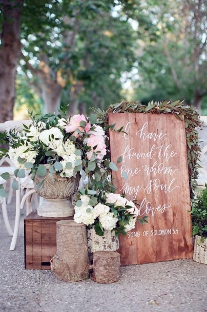 Rustic Wedding Ideas Wooden Ceremony Signs Inspiration