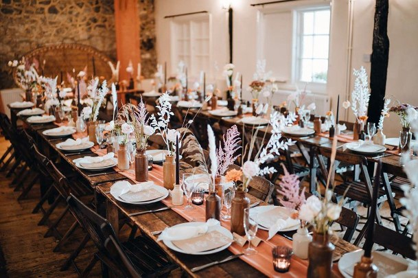 Rustic Wedding Ideas Wooden Napa Tables