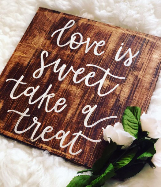 Rustic Wooden Signs Inspiration Fall Wedding Ideas