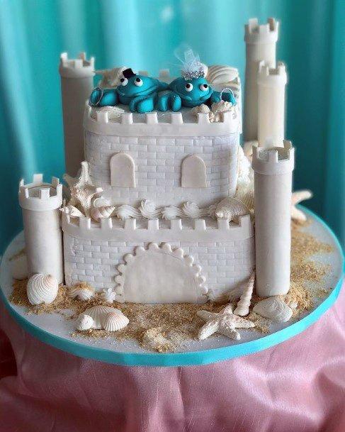 Sand Castle Beach Wedding Cake Women