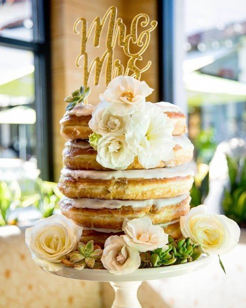 Sandwich Donut Wedding Cake