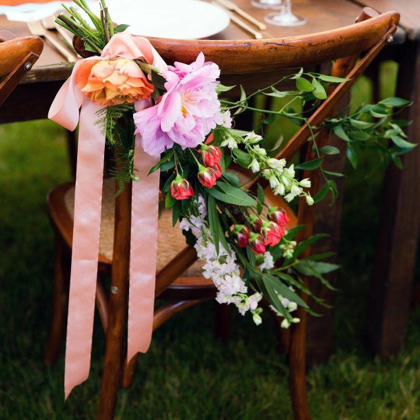 Satin Ribbon And June Wedding Flowers