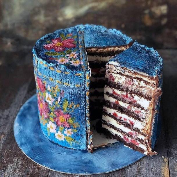 Scrummy Blue Wedding Cake