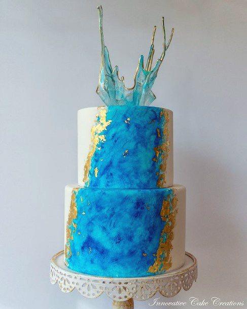 Scrumptious Beach Wedding Cake Women