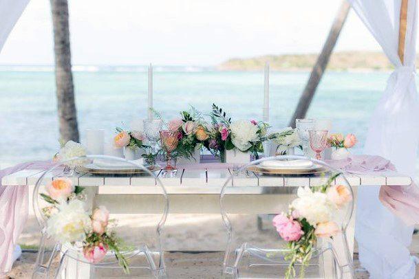 Seaside Wedding Blush Flowers