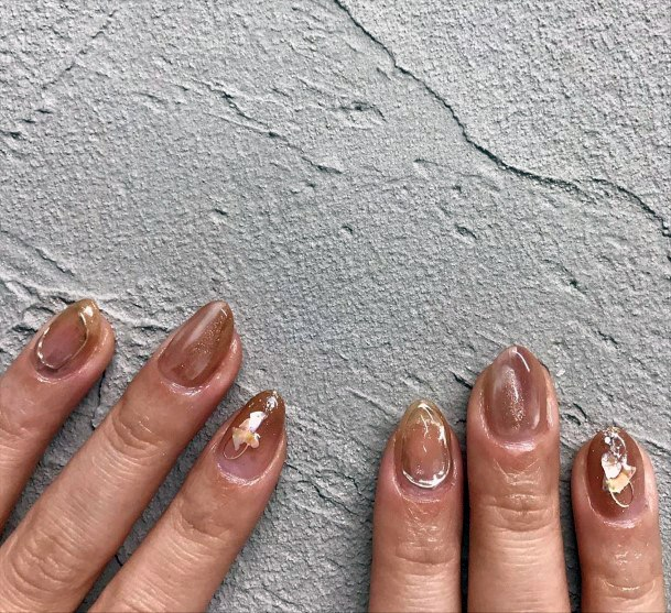 Sepia Brown Nails Women