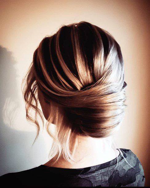 Sexy Loose Highlighted Lower French Twist For Women