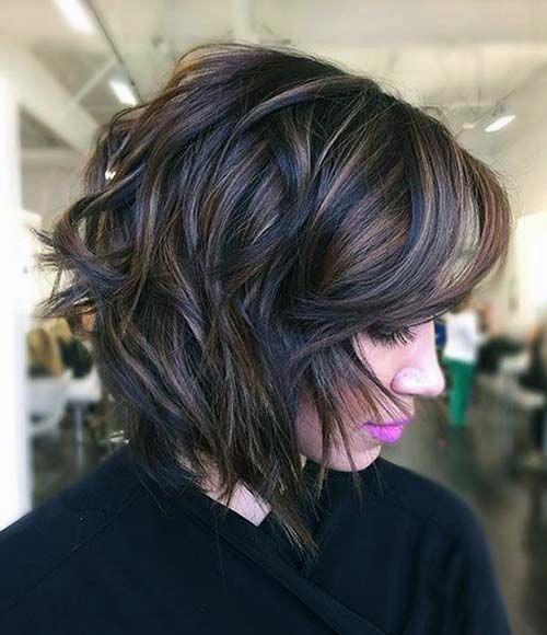 Shaggy Bob Brunette Hairstyle Women