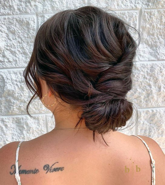 Shaggy Chignon Bun Hairstyle Women