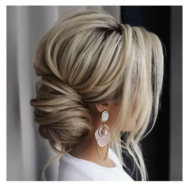 Shaggy Loose Chignon Hairstyle Women