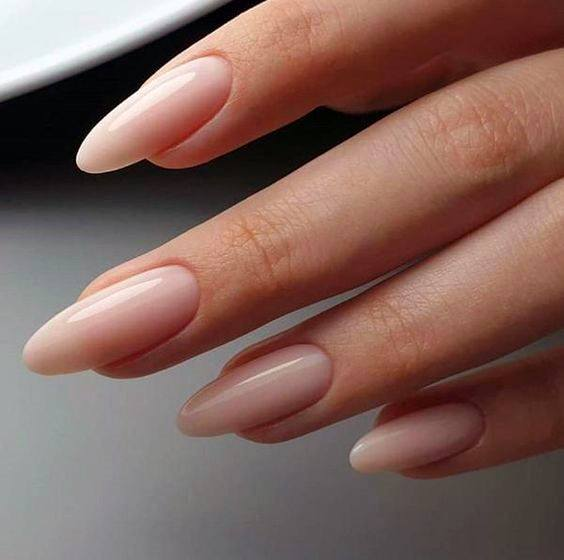 Sharp Nude Natural Nail Ideas For Women