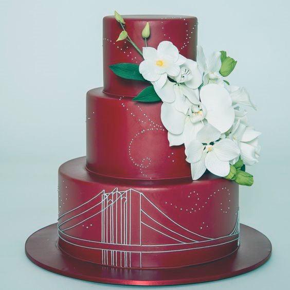 Sheen Red Velvet Wedding Cake