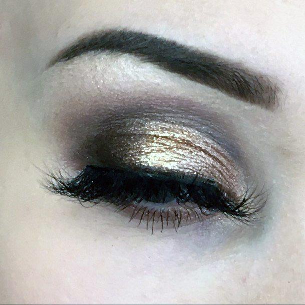 Sheer Gold And Brown Eyeshadow Women