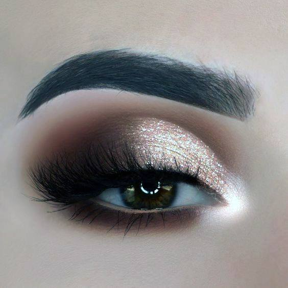 Shining Gold And Brown Womens Eyeshadow