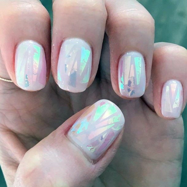 Shining Ivory Glass Nails For Women