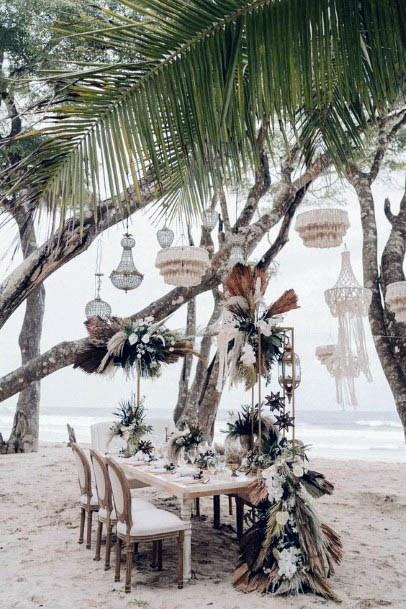 Shining White Beach Wedding Flowers
