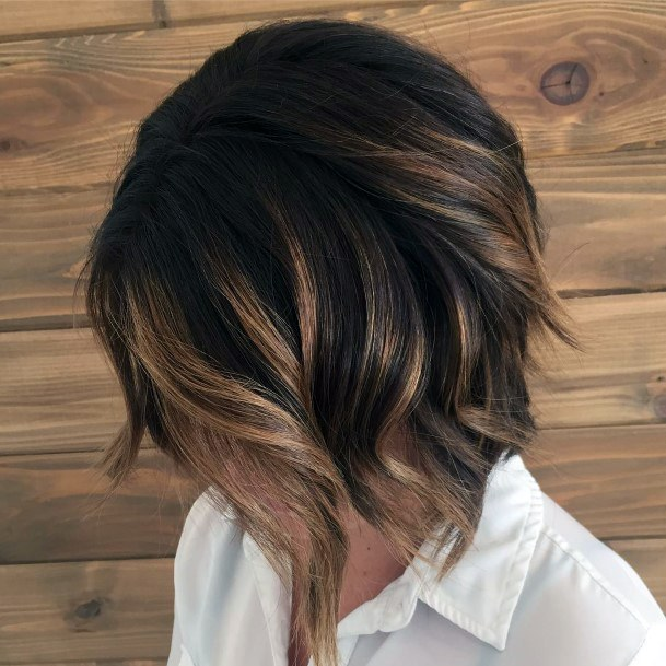 Short Brown Flowing Hairstyle For Women