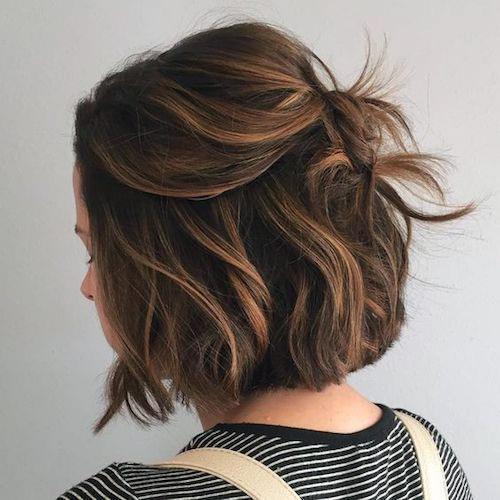 Short Brown Untamed Hairstyles Women