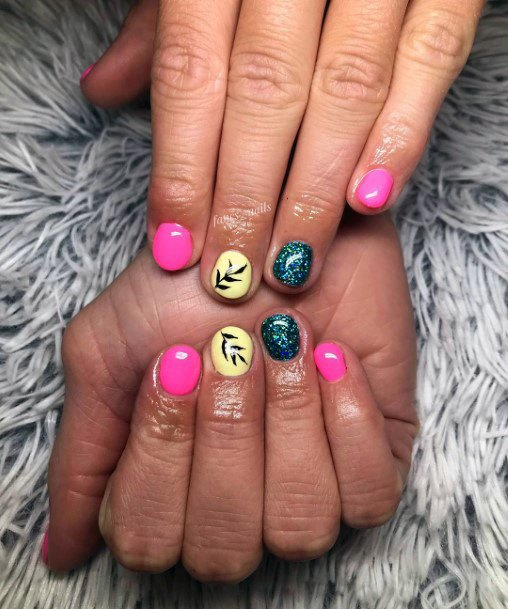 Short Colorful Nail Ideas For Women