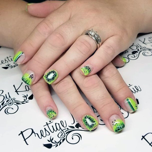 Short Womens Kiwi Nails