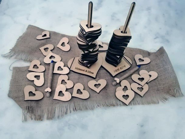Sign A Wood Piece Stackable Hearts Wedding Guest Book Ideas