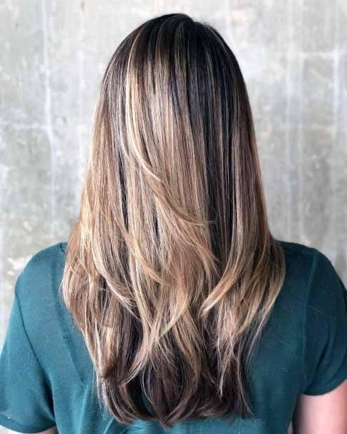 Silver Grey Balayage Cascading Hair Women