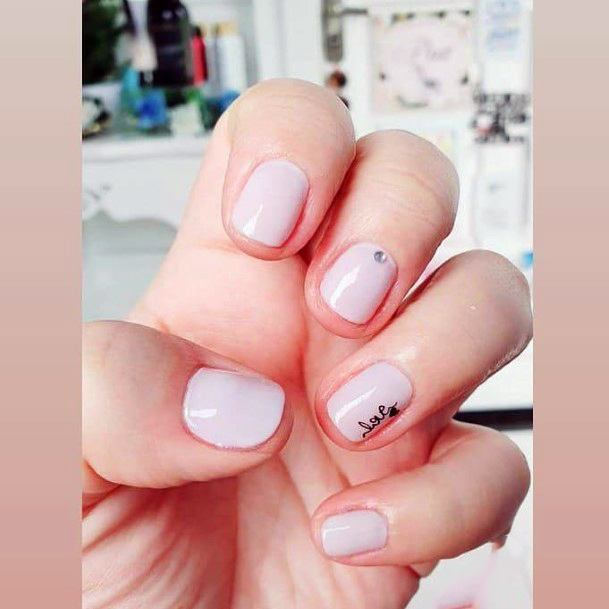 Simple And Charming Nails Women