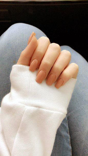 Simple Brown Natural Nail Ideas For Women