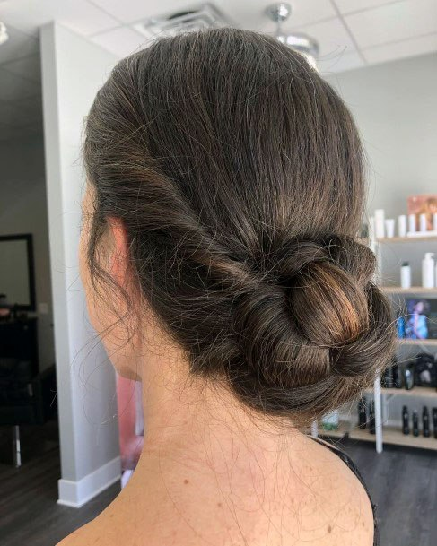 Simple Chignon Hairstyle Women