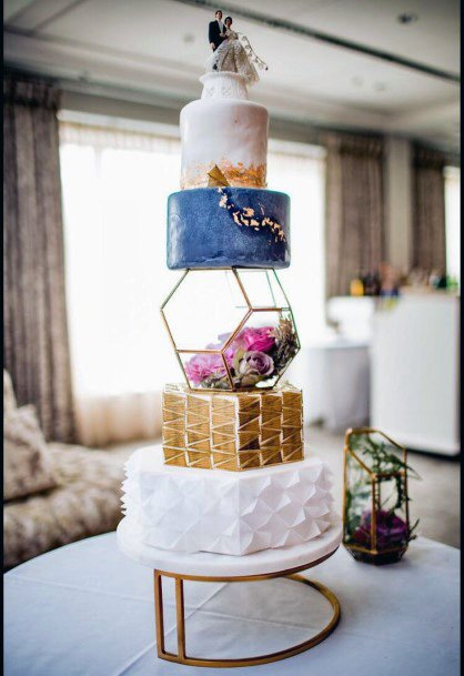Simple Copper Wedding Cake Stand Women